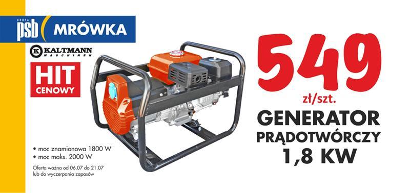 generator prądotwórczy 1,8kW
